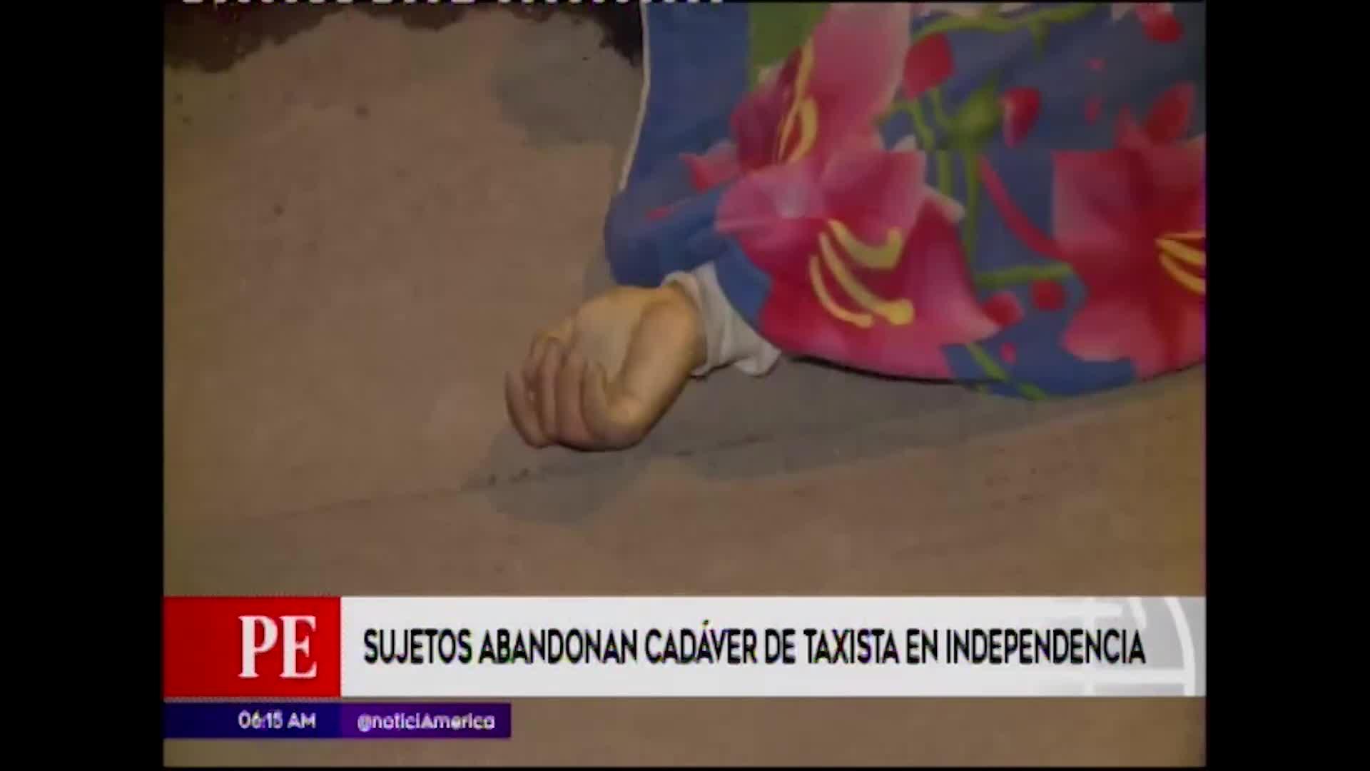 Independencia: abandonan en la calle el cuerpo sin vida de un hombre