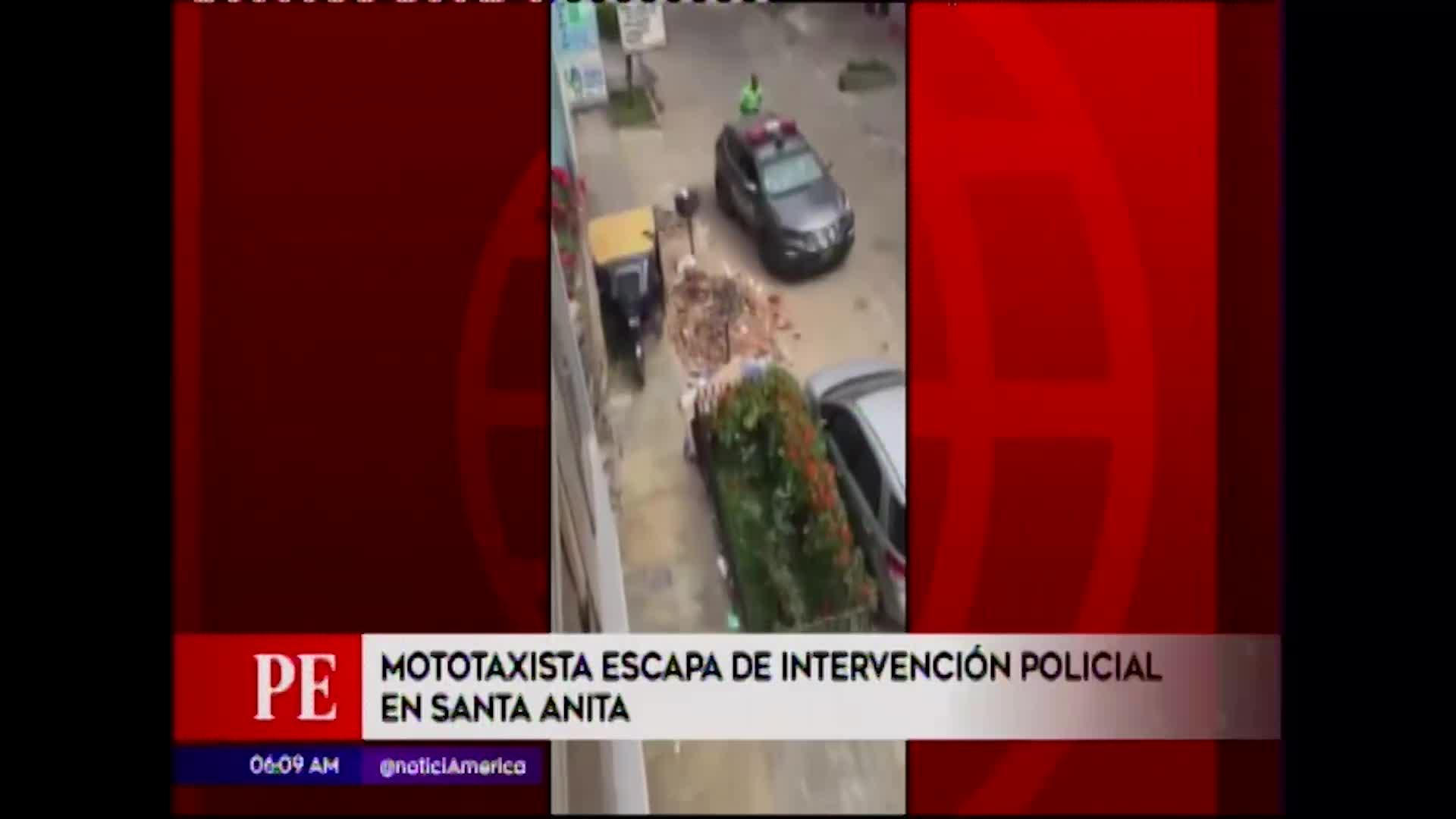 Santa Anita: sorprendente huida de mototaxista que evitó intervención policial