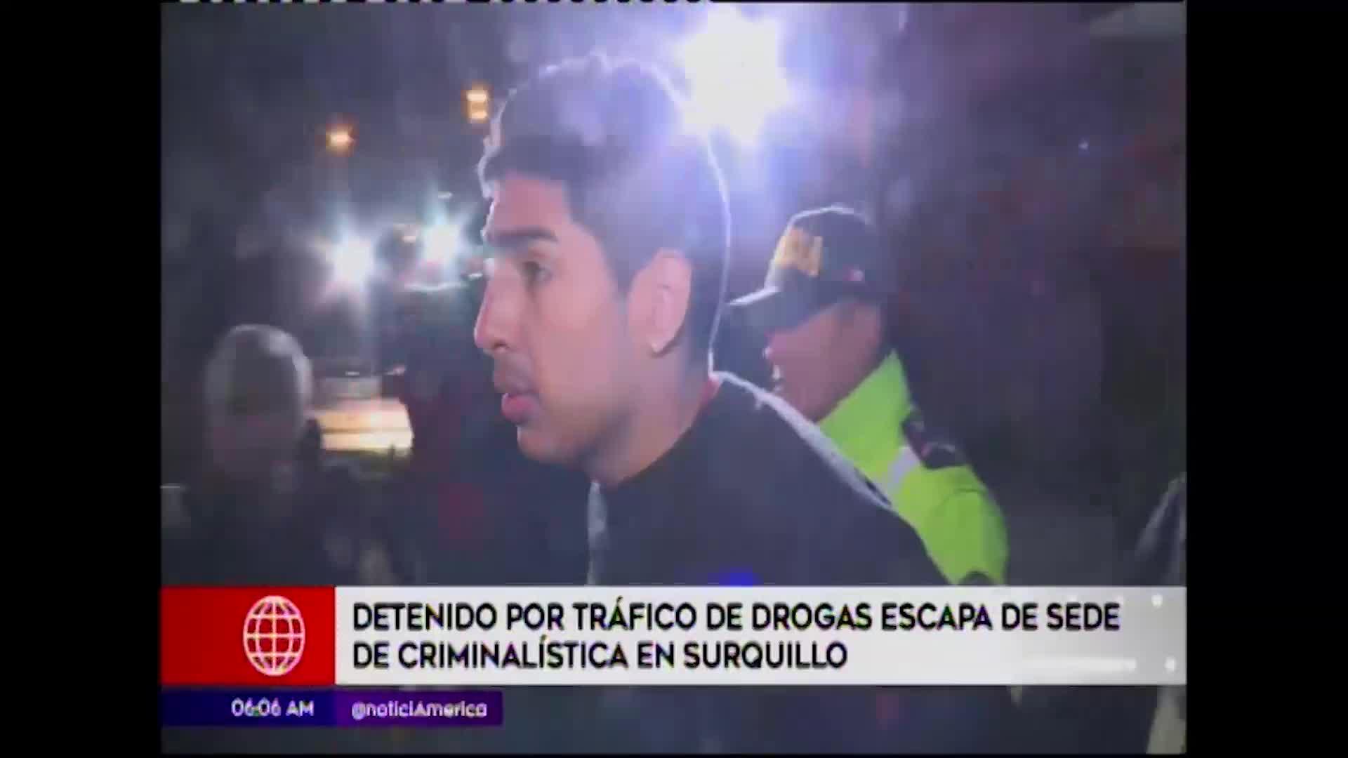 Surquillo: sujeto acusado de tráfico de drogas escapa de sede policial