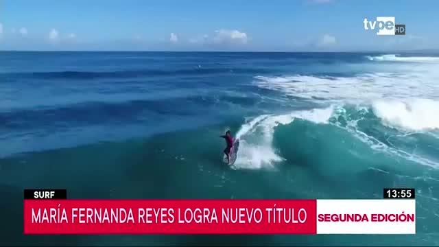 Surf: María Fernanda Reyes se proclama bicampeona en Puerto Rico