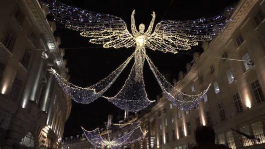 Luces de Navidad iluminan Londres