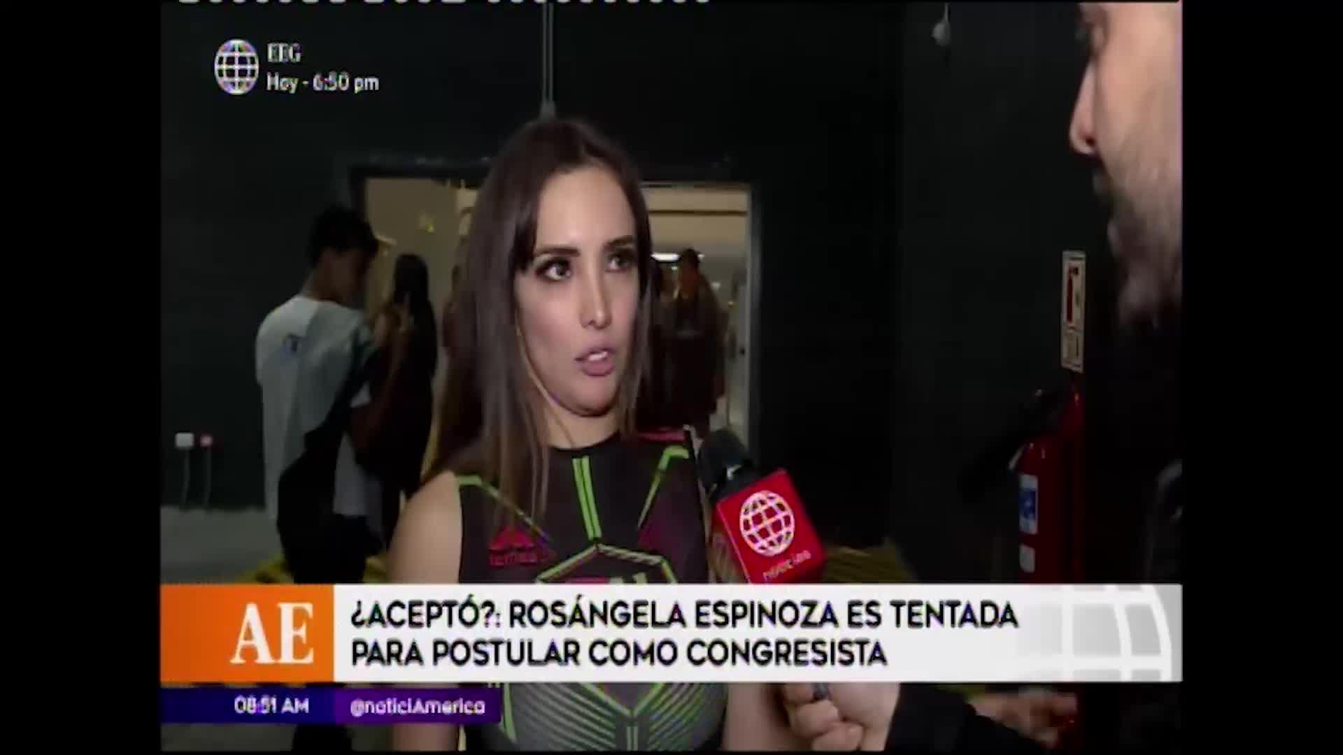 Esto es guerra: Rosángela Espinoza fue tentada para postular al Congreso ¿Aceptó?