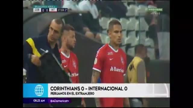 Paolo Guerrero participa en el empate de Internacional