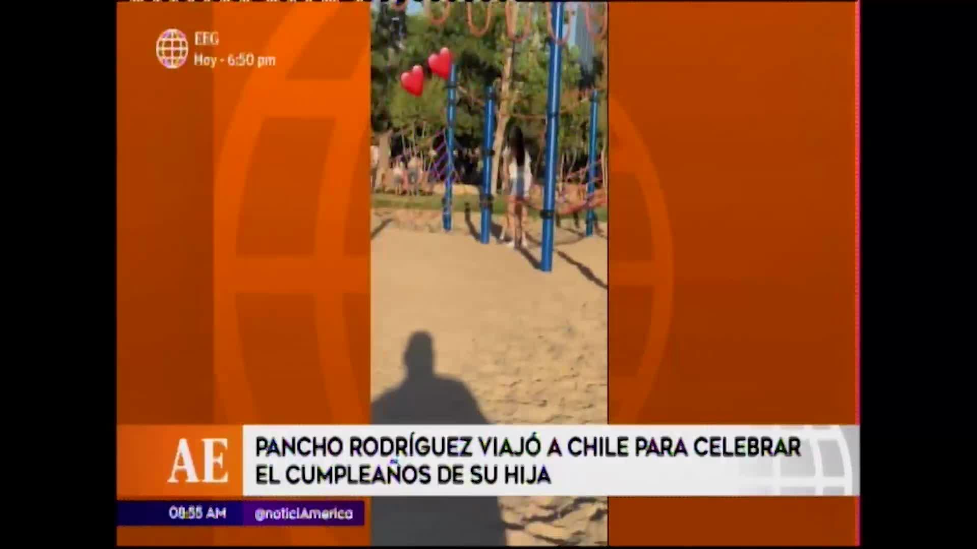 EEG: Pancho Rodríguez viajó a Chile para visitar a sus hijas