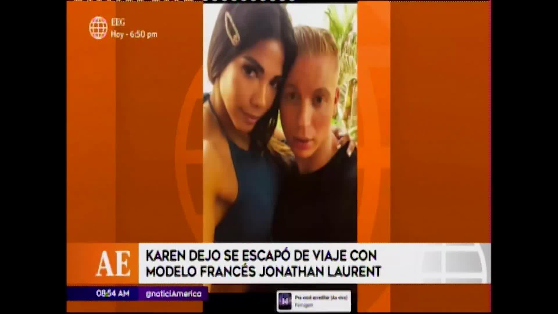 EEG: Karen Dejo disfruta de las playas norteñas junto a modelo francés