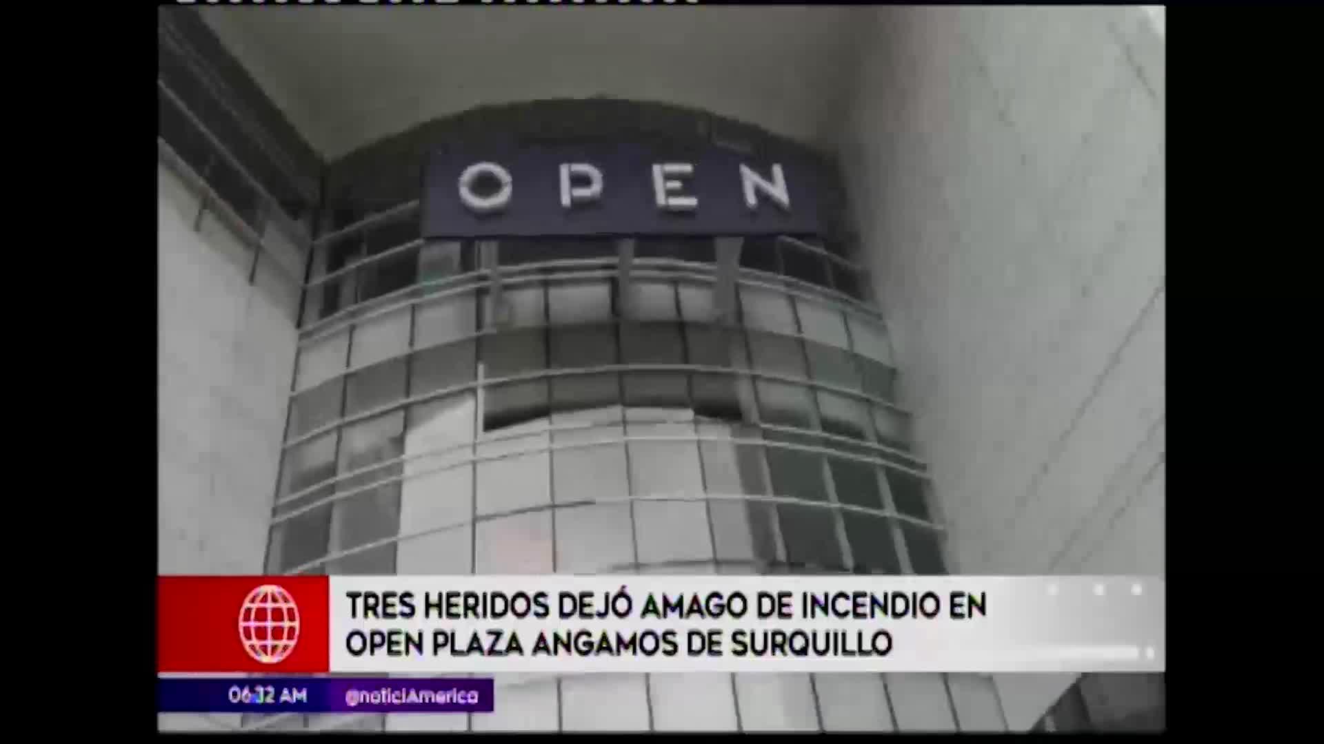 Surquillo: incendio en Open Plaza dejó tres heridos