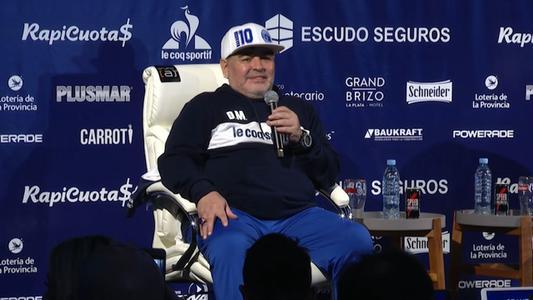 Maradona renunció como técnico de Gimnasia y Esgrima La Plata