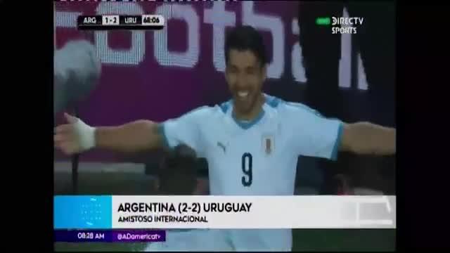 Argentina y Uruguay empatan en intenso partido