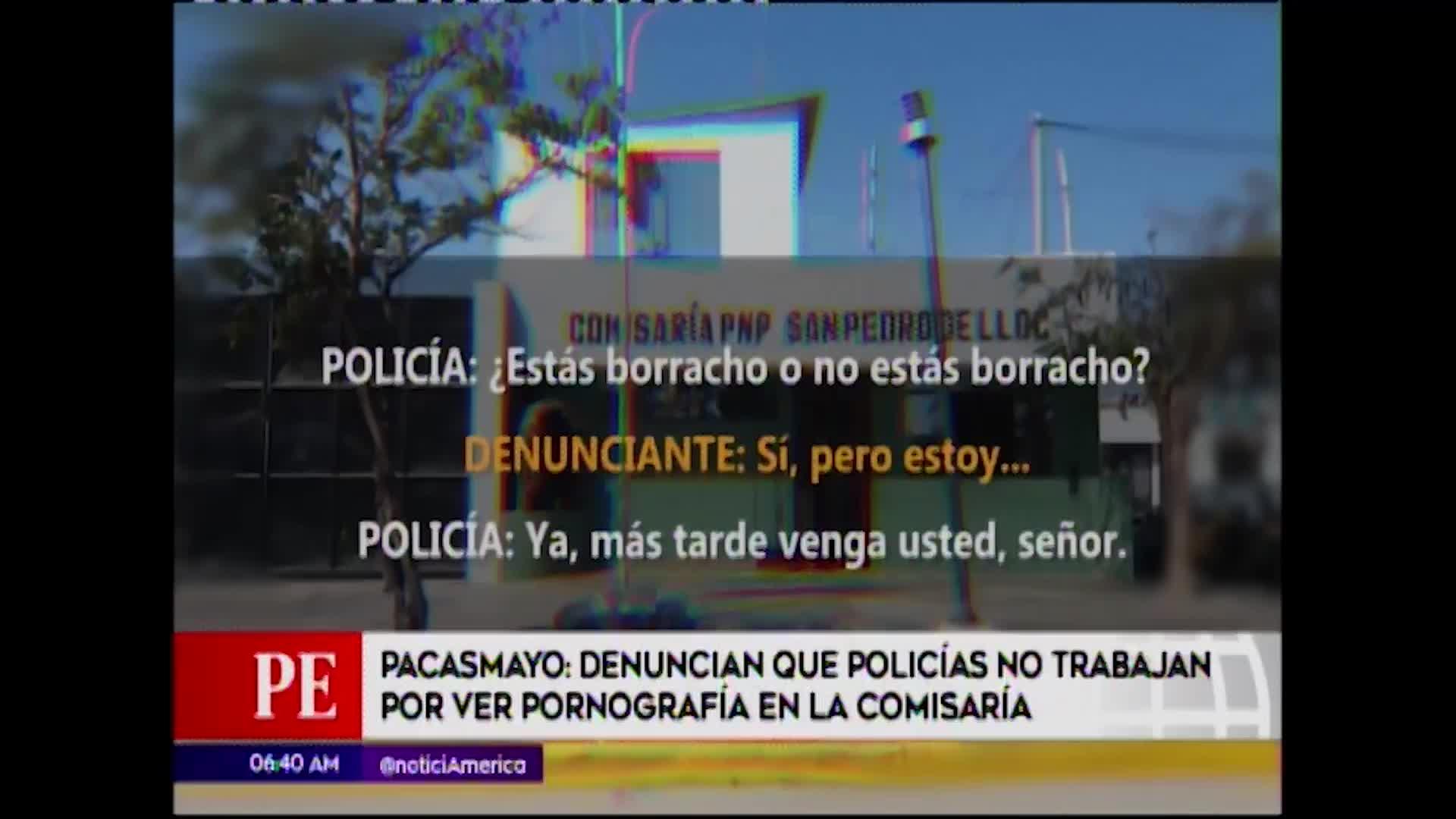 Policías fueron captados viendo pornografía en comisaría de Pacasmayo