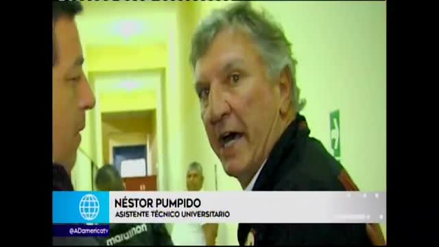 Néstor Pumpido, asistente técnico de Ángel Comizzo, intentó agredir a camarógrafo