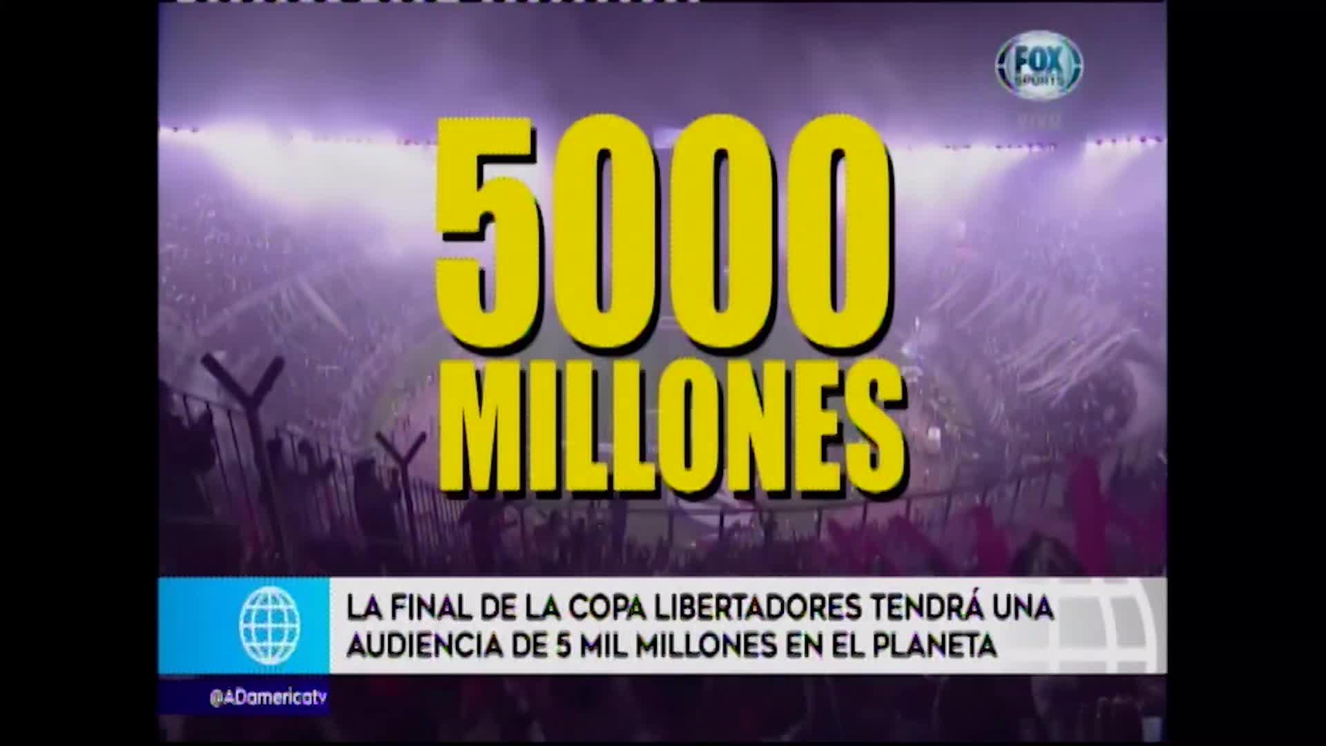 Conmebol anuncia audiencia para la final entre River Plate y Flamengo, más de 5,000 millones de personas