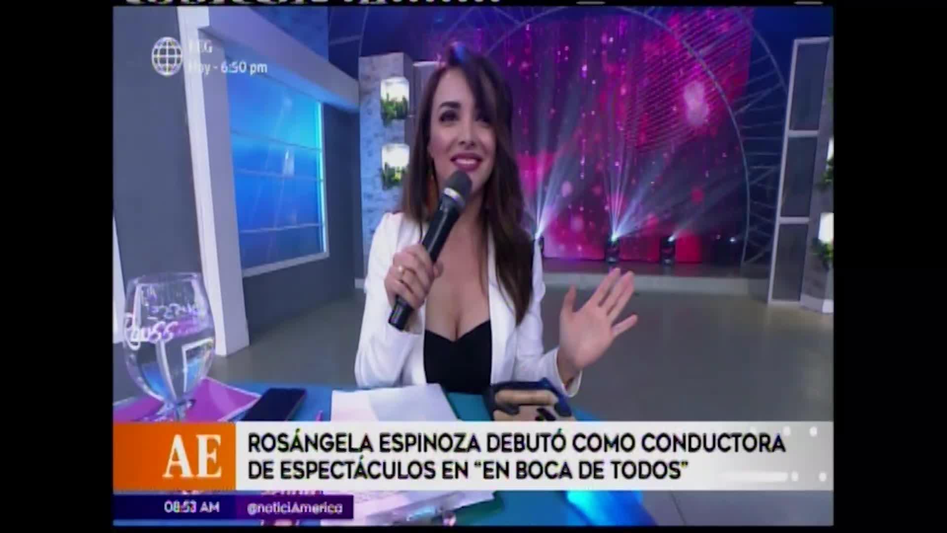 Esto es guerra: Rosángela Espinoza habló de su debut como conductora de espectáculos