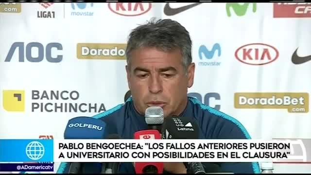 """Pablo Bengoechea: """"Sin todas las fallas arbitrales, Universitario no llegaba a la última fecha con chances de campeonar"""""""