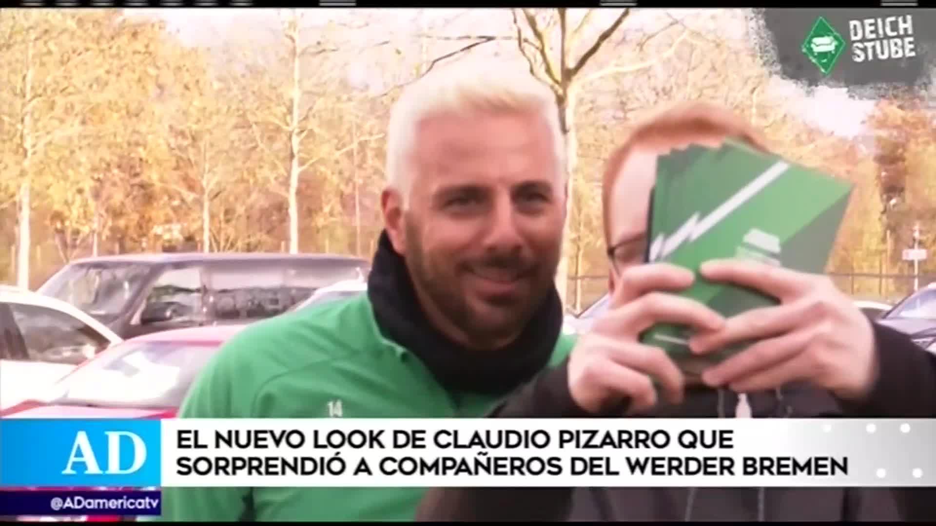Claudio Pizarro sorprendió a sus compañeros del Werder Bremen con radical cambio de look