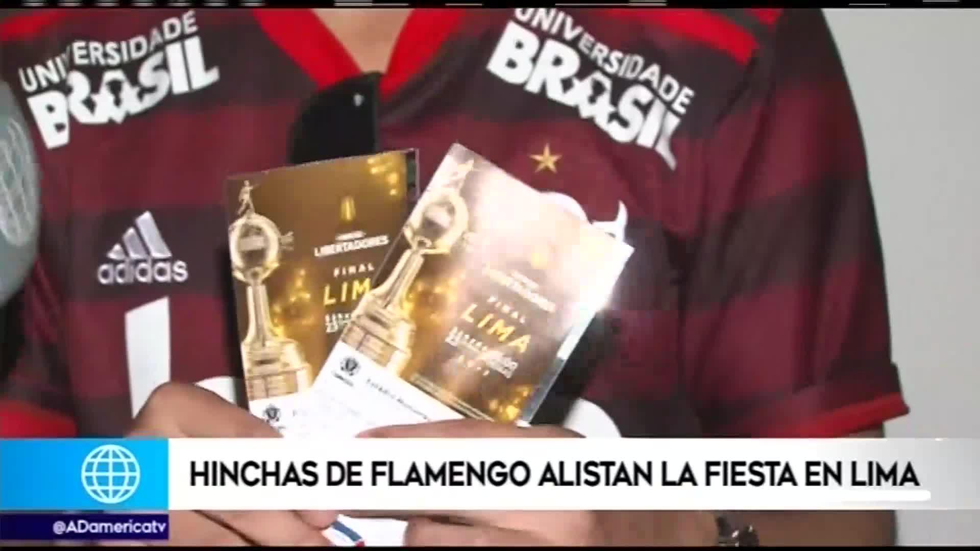 Hinchas de Flamengo llegan a Lima y preparan una fiesta para la final de la Copa Libertadores 2019
