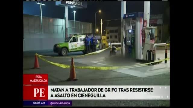 Cieneguilla: delincuentes asesinaron de un disparo a trabajador de grifo