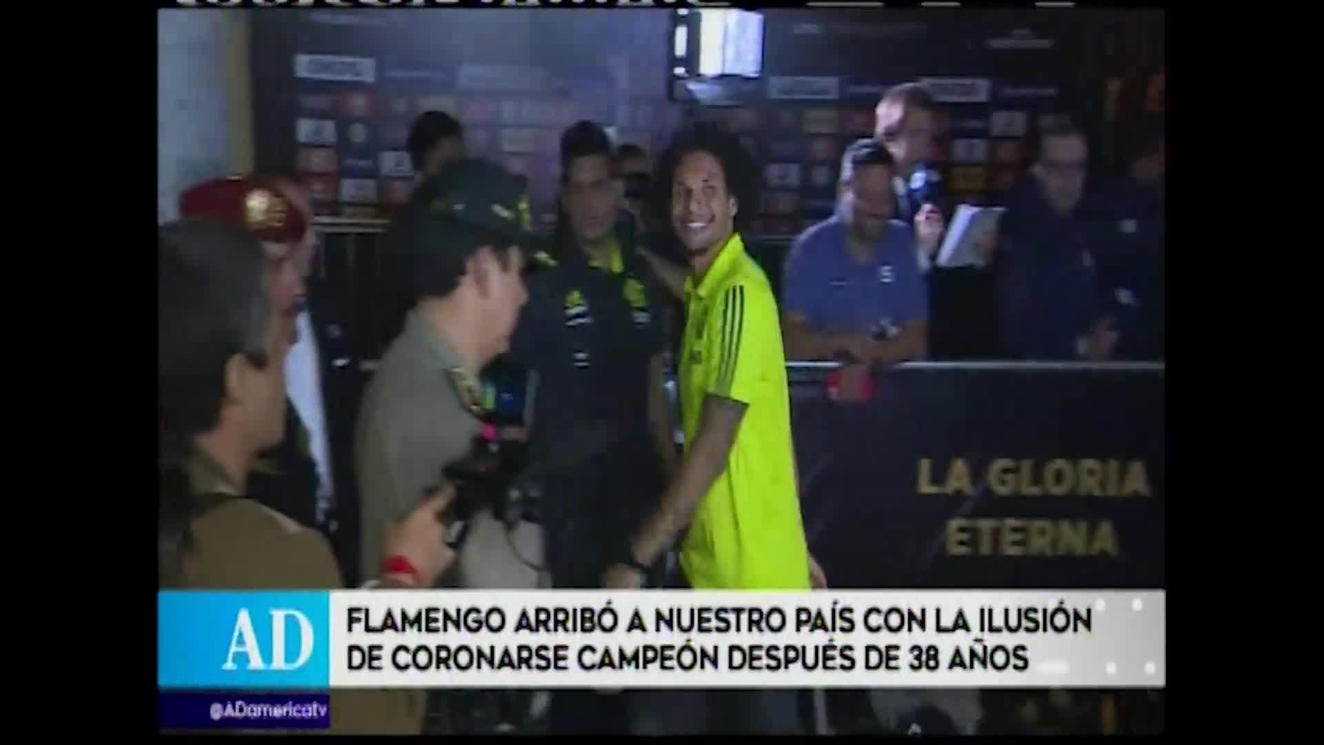 Copa Libertadores: Flamengo llegó a Lima para disputar la gran final contra River Plate