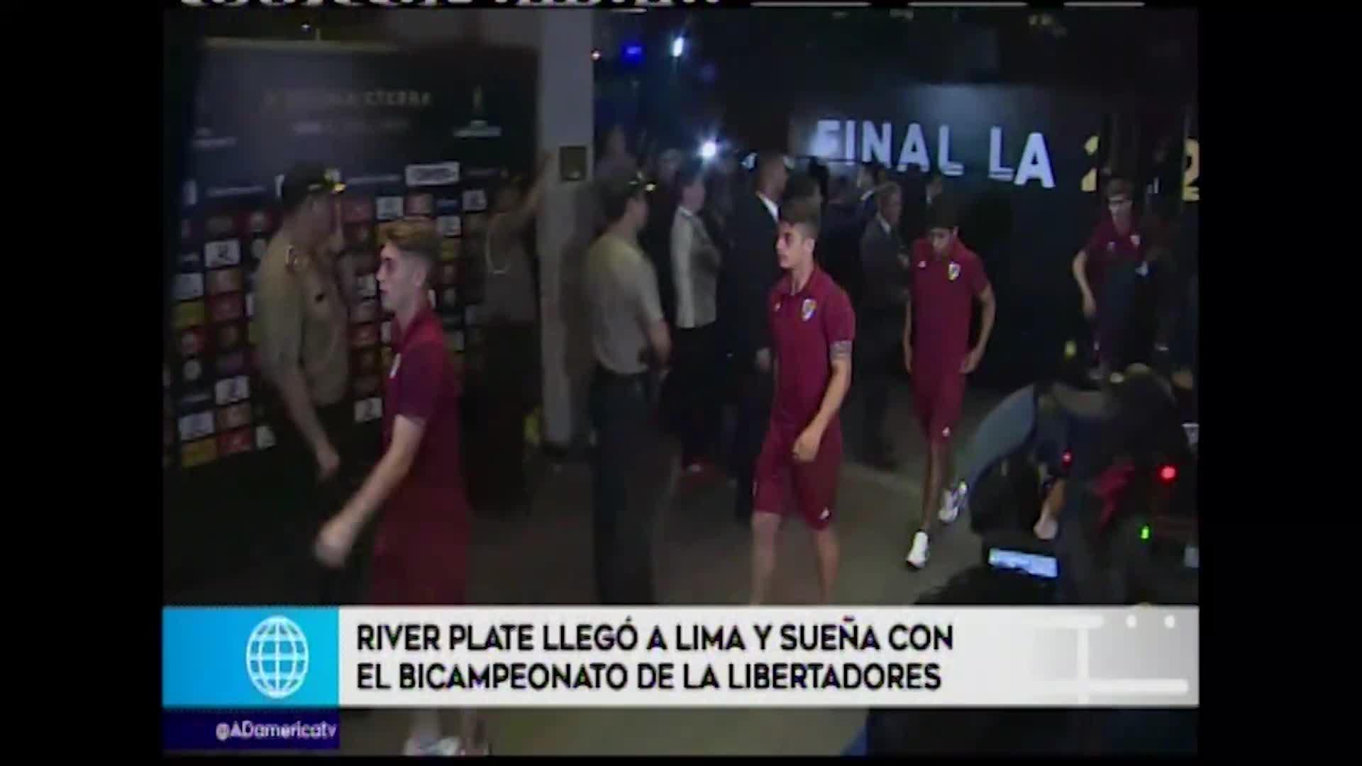 Copa Libertadores: River Plate arribó a Lima para disputar la gran final