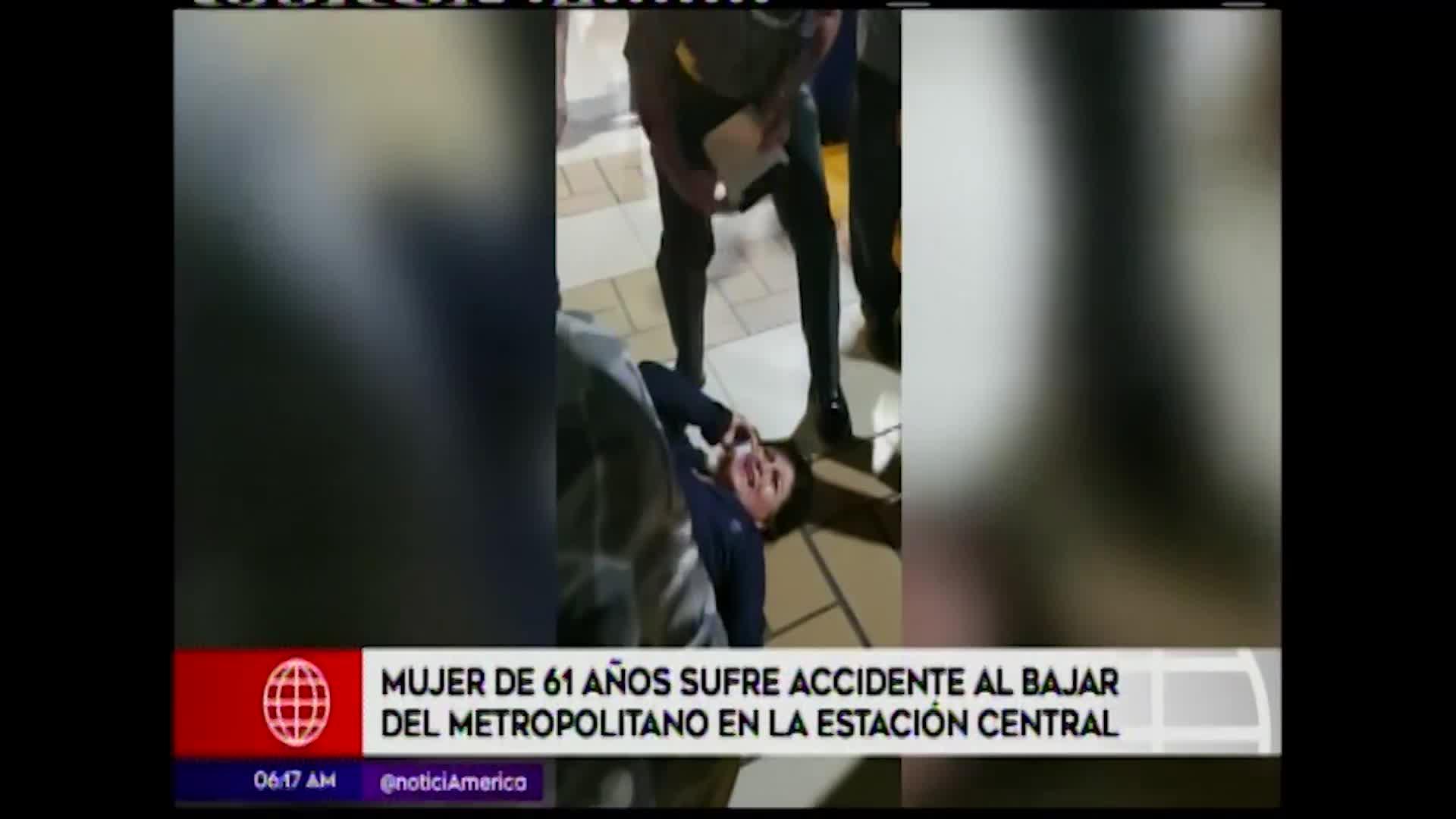Metropolitano: mujer de 61 años sufrió accidente en Estación Central