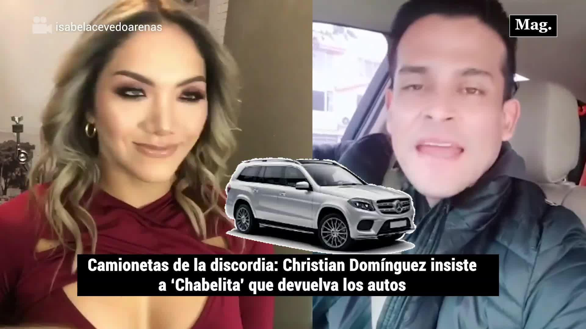Christian Domínguez y Pamela Franco arremeten contra 'Chabelita' para que devuelva las camionetas