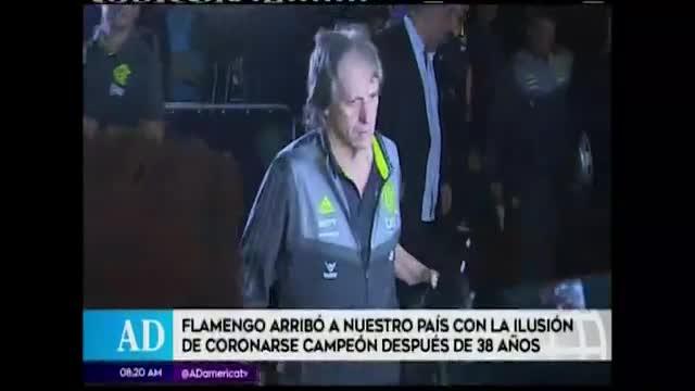 Flamengo llega a Lima en medio de multitud
