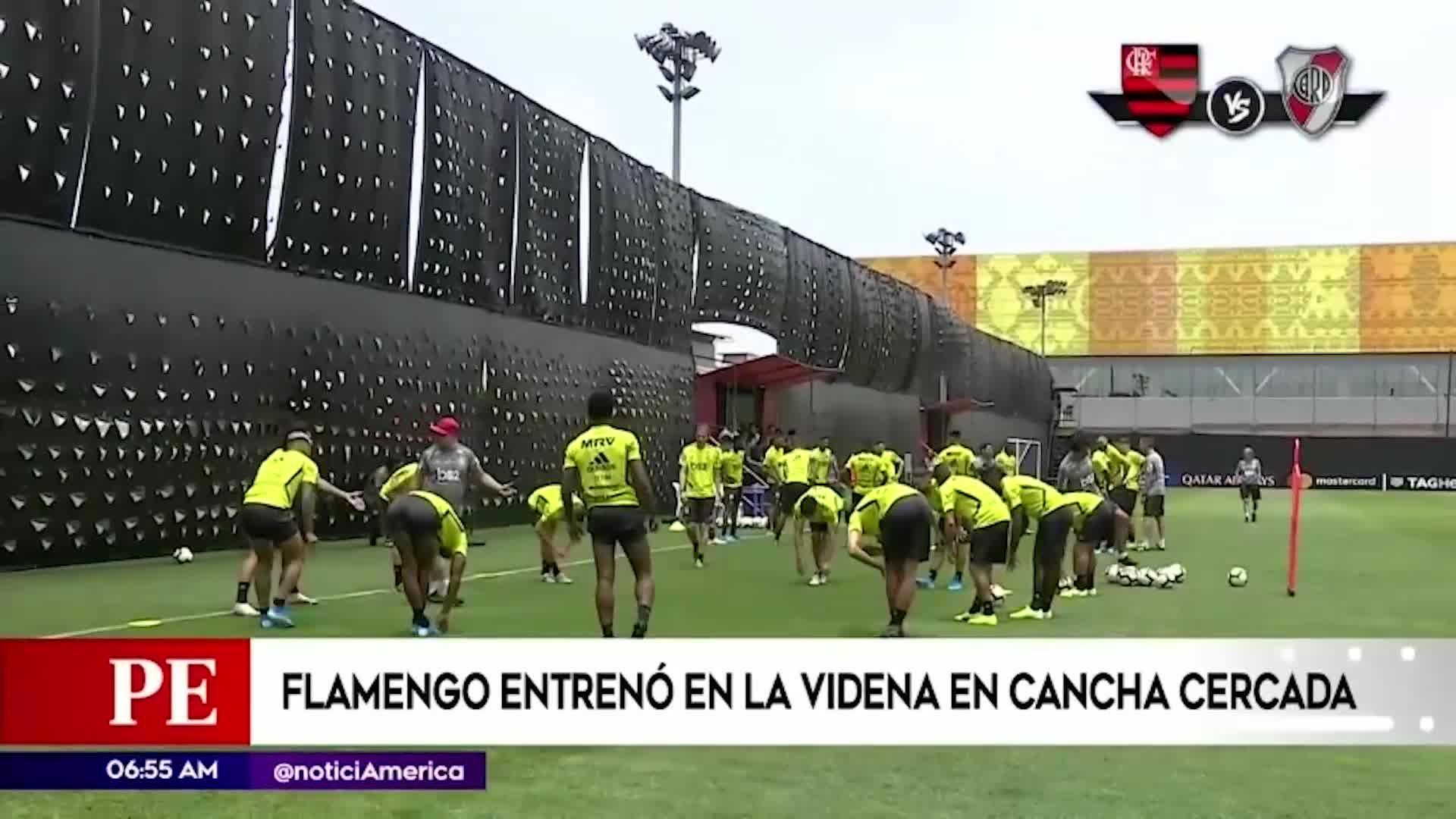 Copa Libertadores 2019: Flamengo realizó entrenamiento con campo cercado