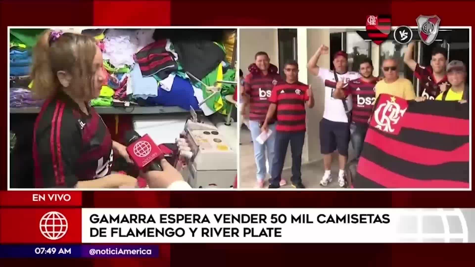 Copa Libertadores 2019: Gamarra espera vender 50 mil camisetas de River y Flamengo