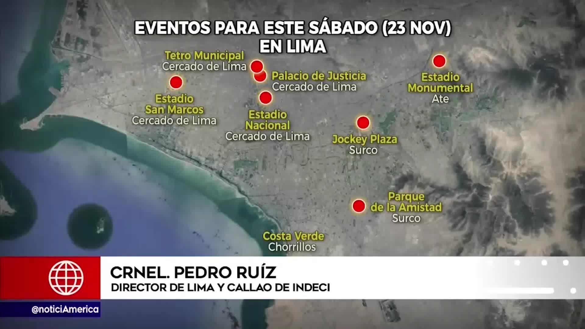 INDECI aseguró que Lima no está preparada para los 8 eventos de este sábado 23