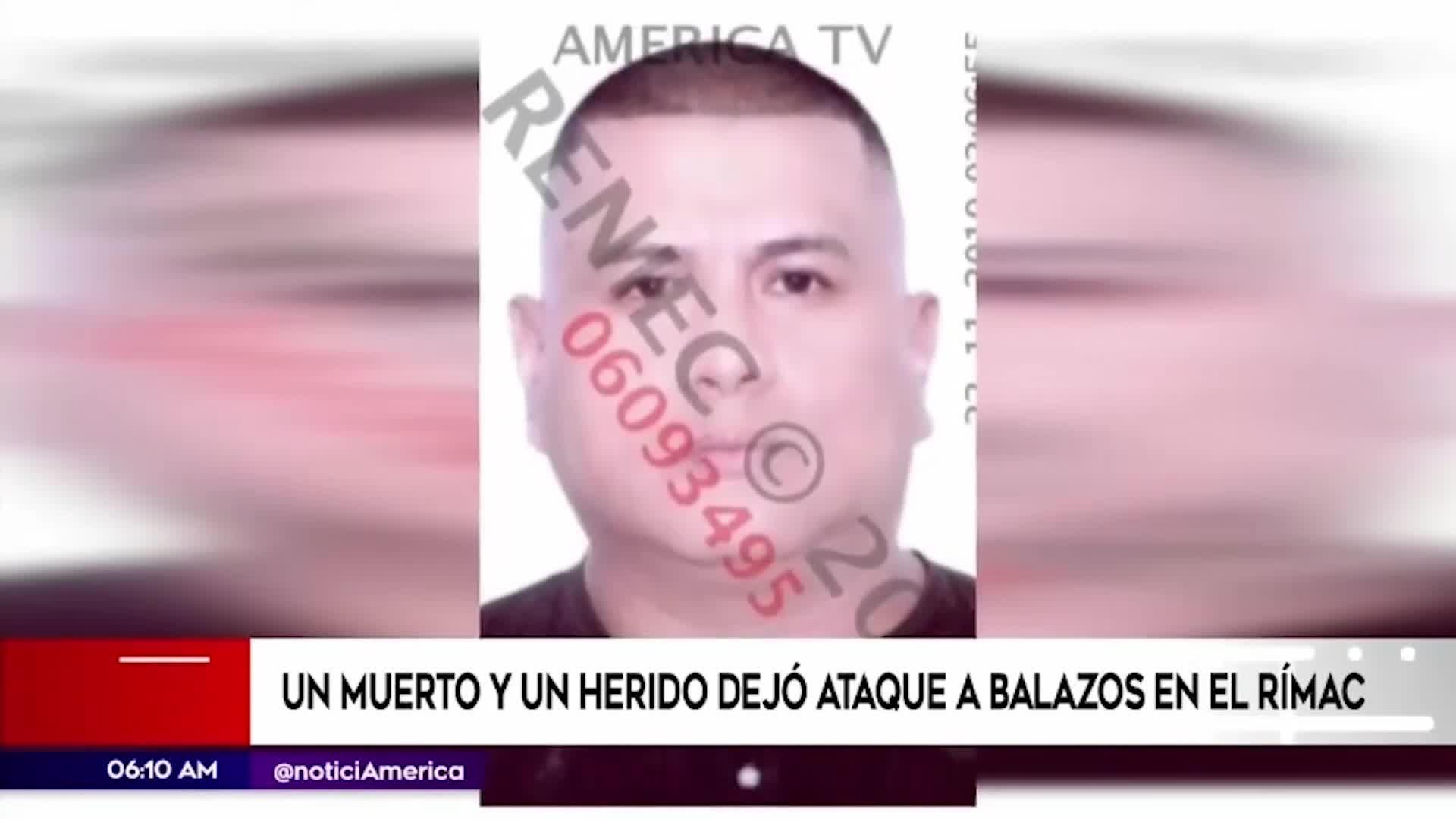Rímac: sujetos asesinaron a balazos a un hombre tras una persecución