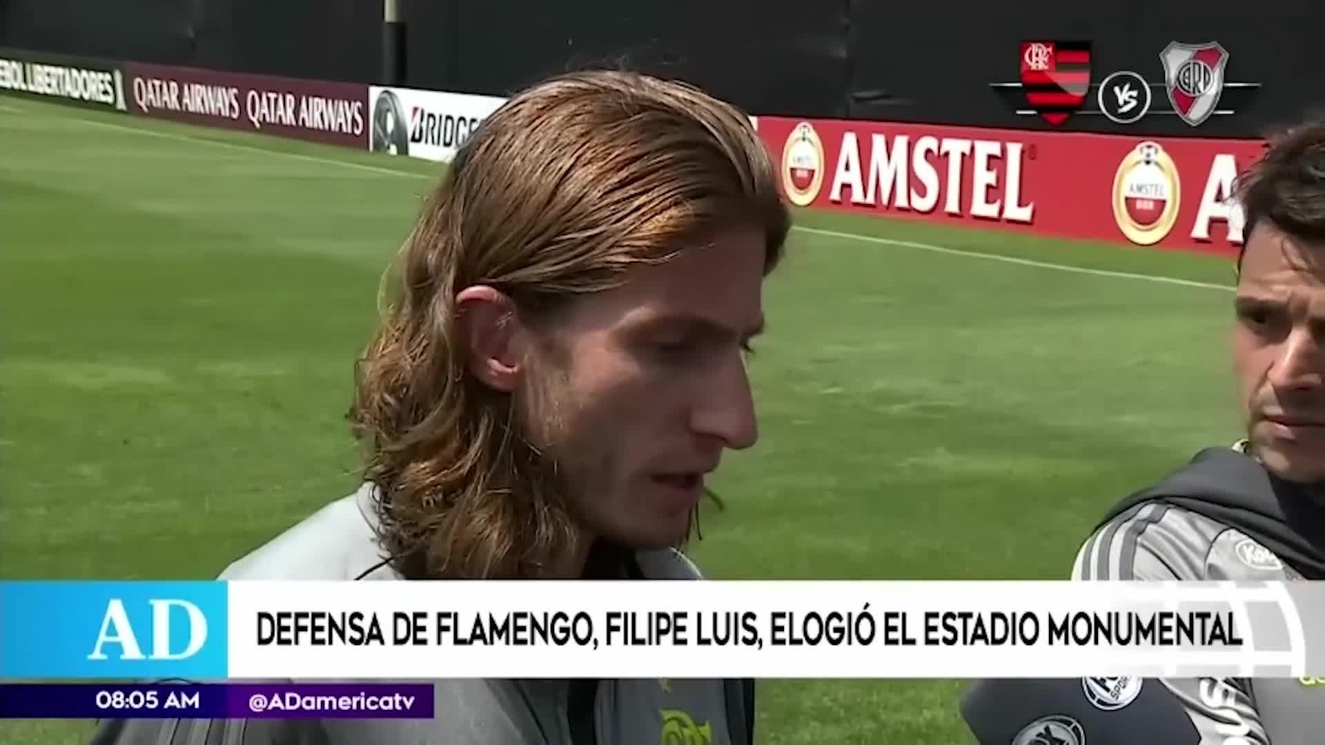 Copa Libertadores 2019: Filipe Luis elogia al estadio Monumental