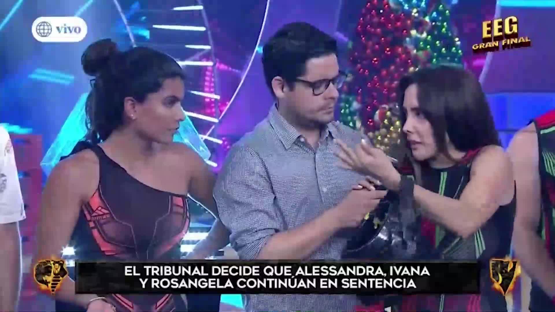 Rosángela Espinoza se molestó con la producción de 'EEG' al no eliminar a Ivana Yturbe