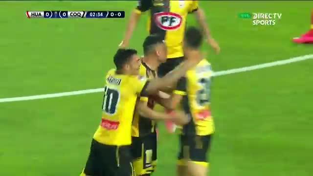 ¡Tras revisión del VAR! Diego Vallejos puso el 1-0 en el Sport Huancayo vs. Coquimbo Unido