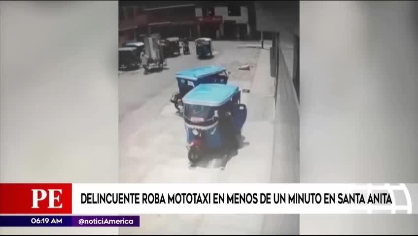 Santa Anita: roban mototaxi en menos de un minuto