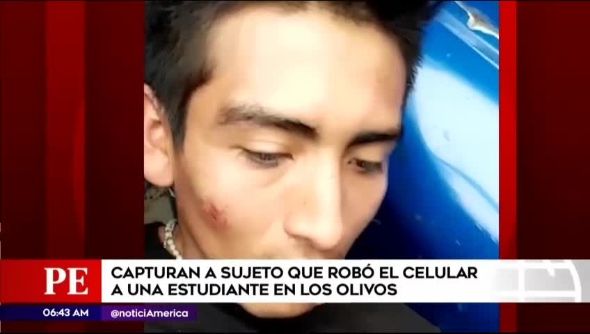 Los Olivos: serenazgo capturó a delincuente que arrebató celular a joven