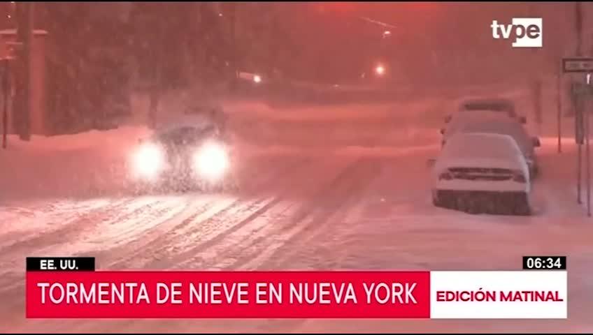 EE.UU: New York en emergencia por tormenta de nieve