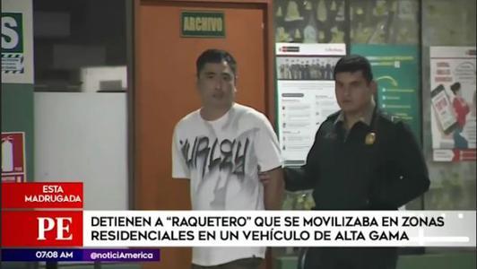 San Isidro: detienen a raquetero que conducía auto de alta gama