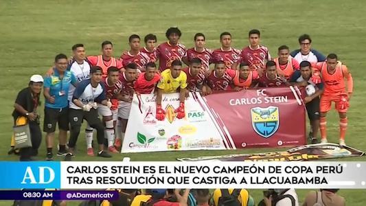 FPF proclama a Carlos Stein campeón de la Copa Perú