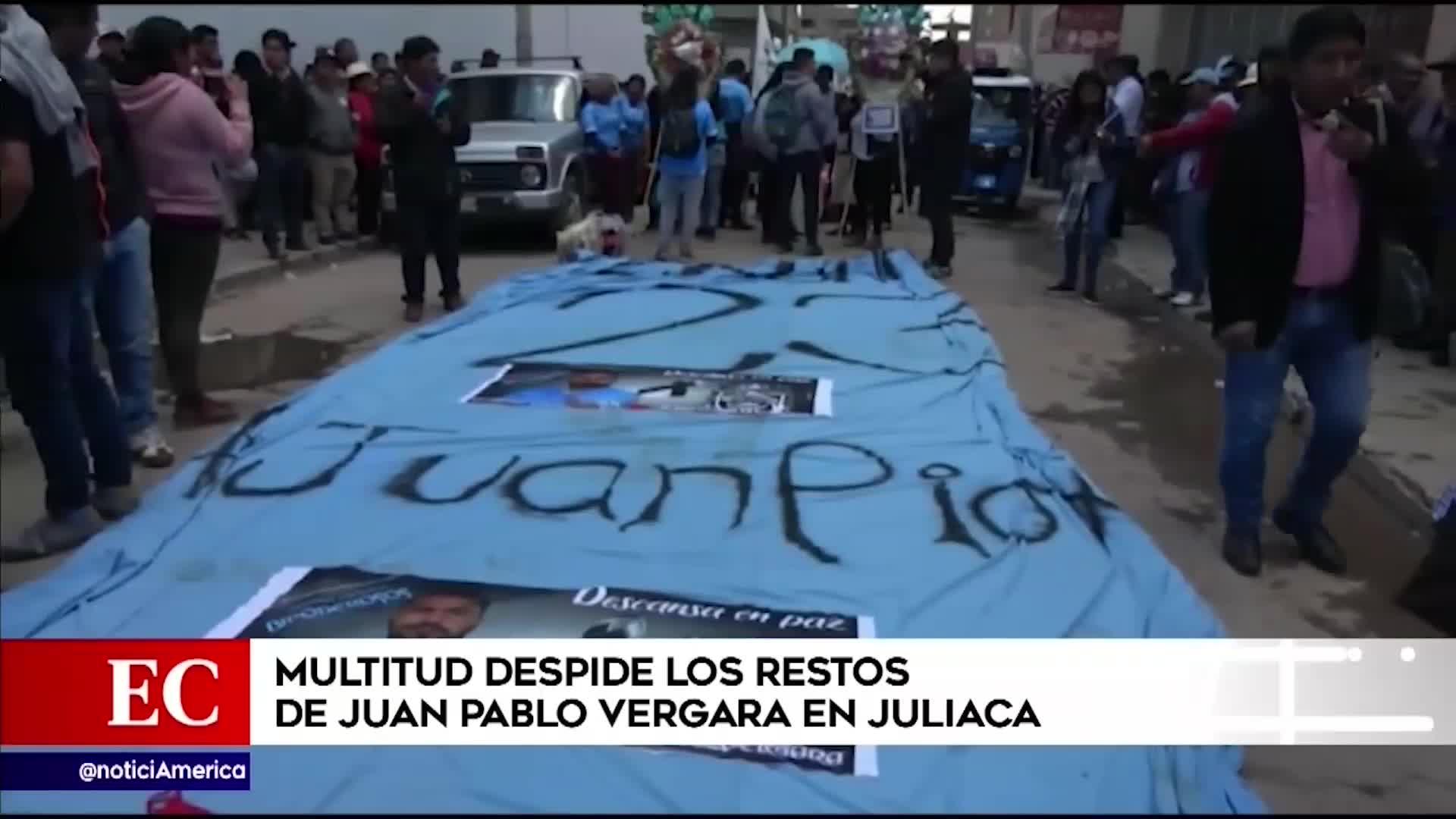 Juan Pablo Vergara: lágrimas de dolor y cánticos en emotiva despedida en Juliaca