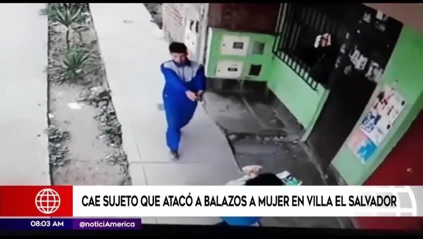 VES: cámaras registran ataque de sicario a una mujer