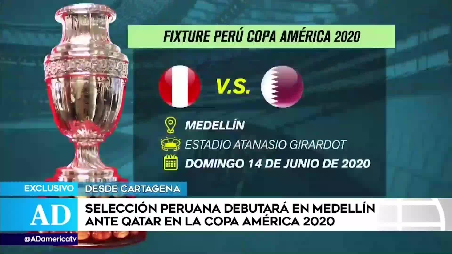 Selección peruana: La 'blanquirroja' debutará ante Qatar en la Copa América 2020