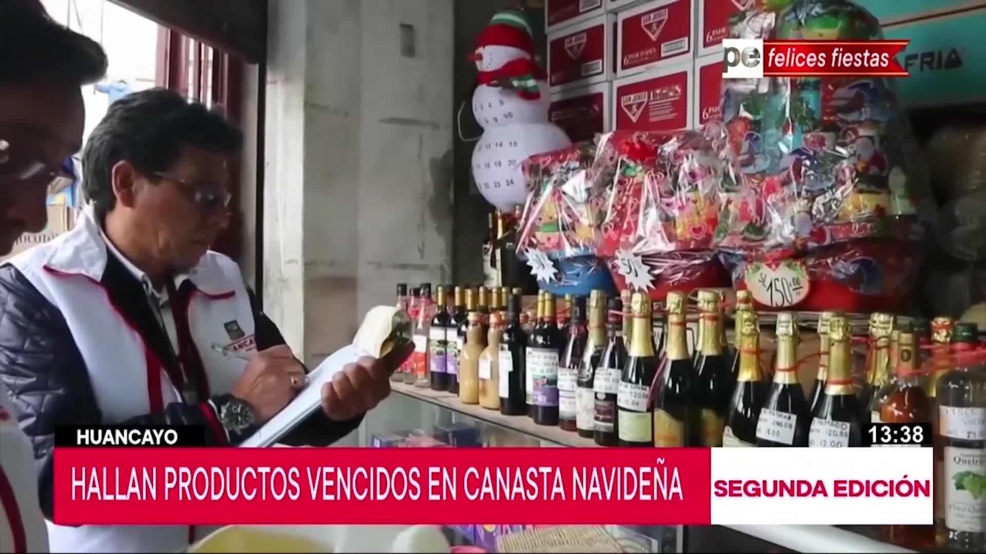 Huancayo: Comerciantes preparaban canastas navideñas con productos vencidos