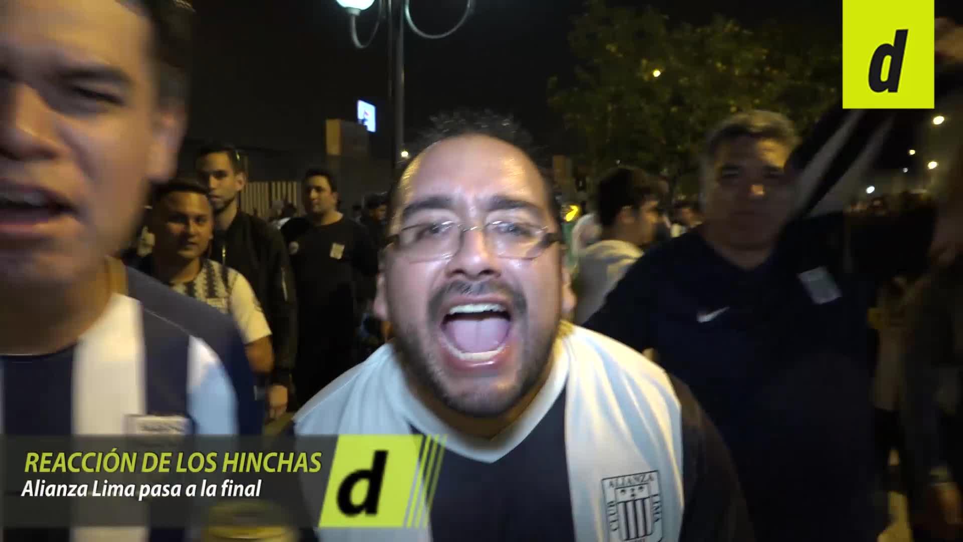 Así fue la reacción de los hinchas de Alianza Lima tras su pase a la final de la Liga 1