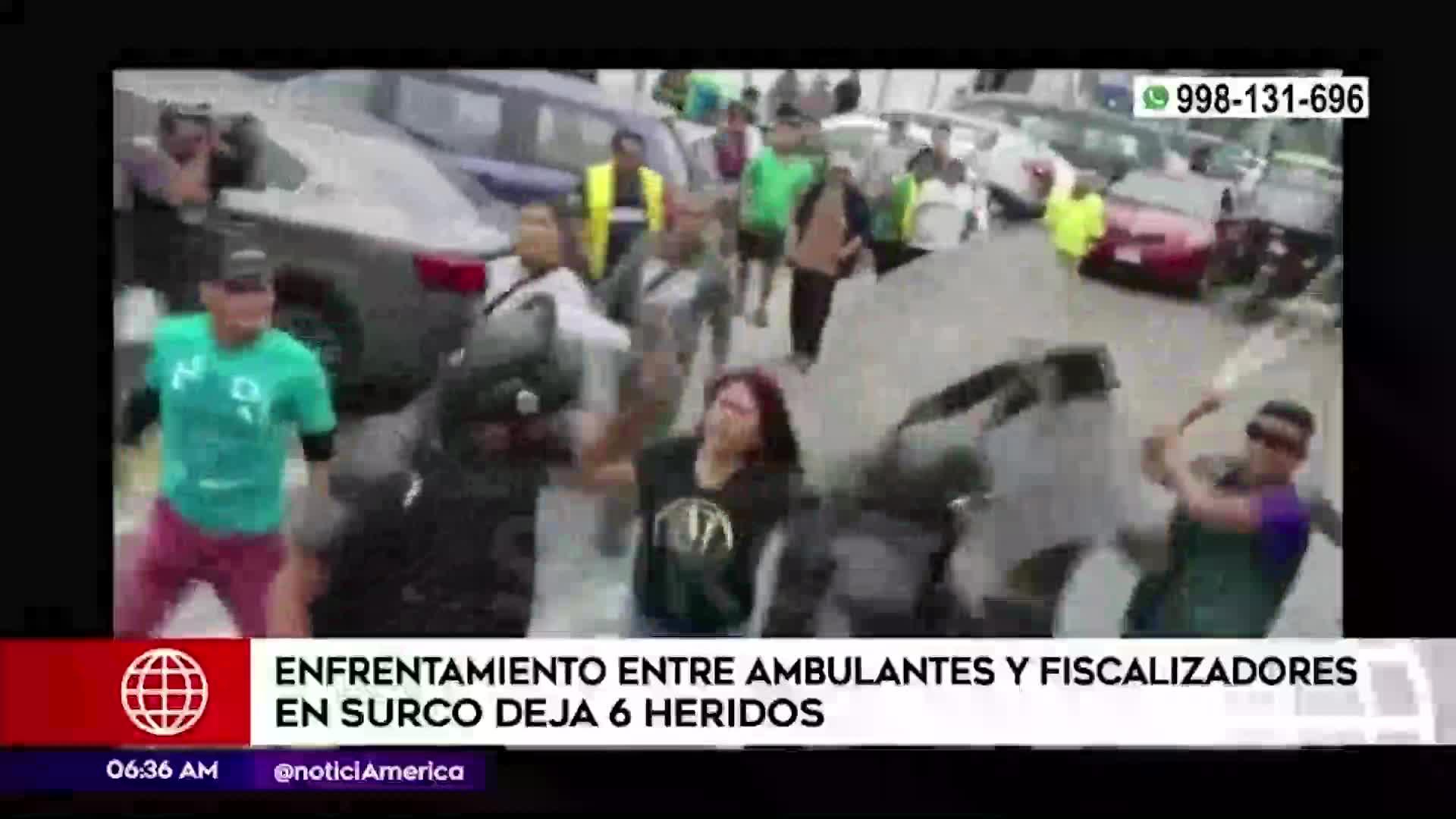 Surco: enfrentamiento entre serenos y ambulantes dejó seis heridos