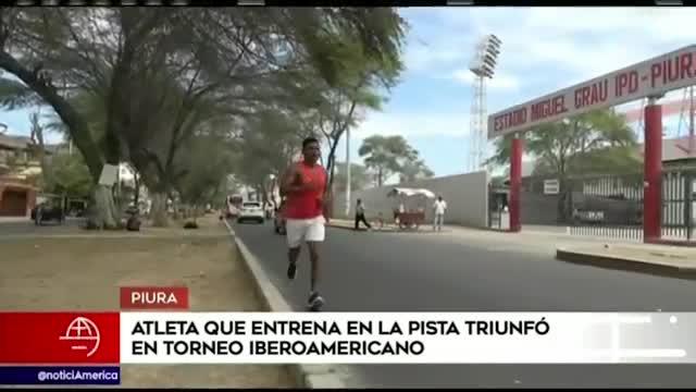 Atleta denuncia que entrena en la calle por cierre de estadio Miguel Grau de Piura