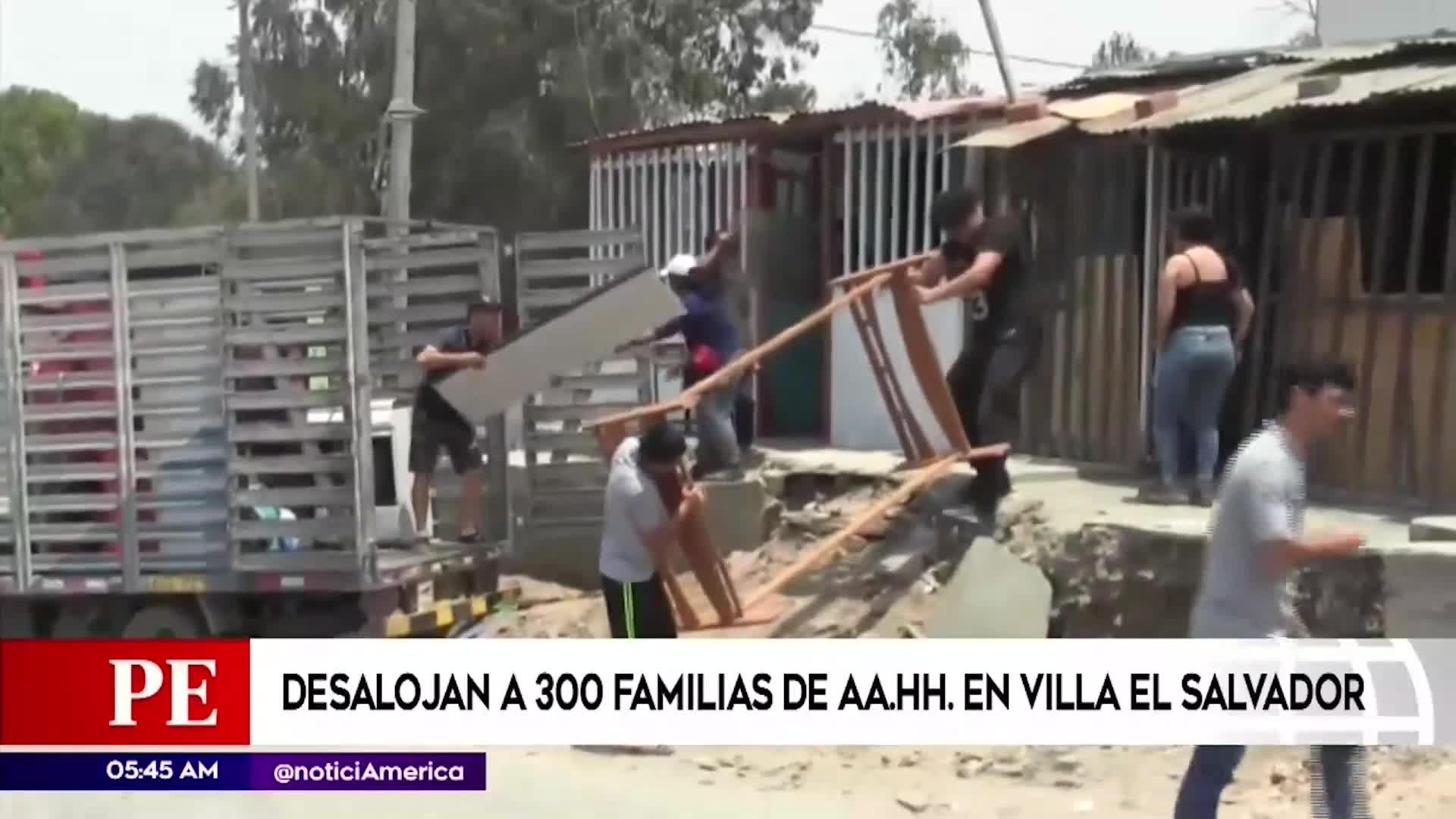 Villa El Salvador: 500 familias fueron desalojadas