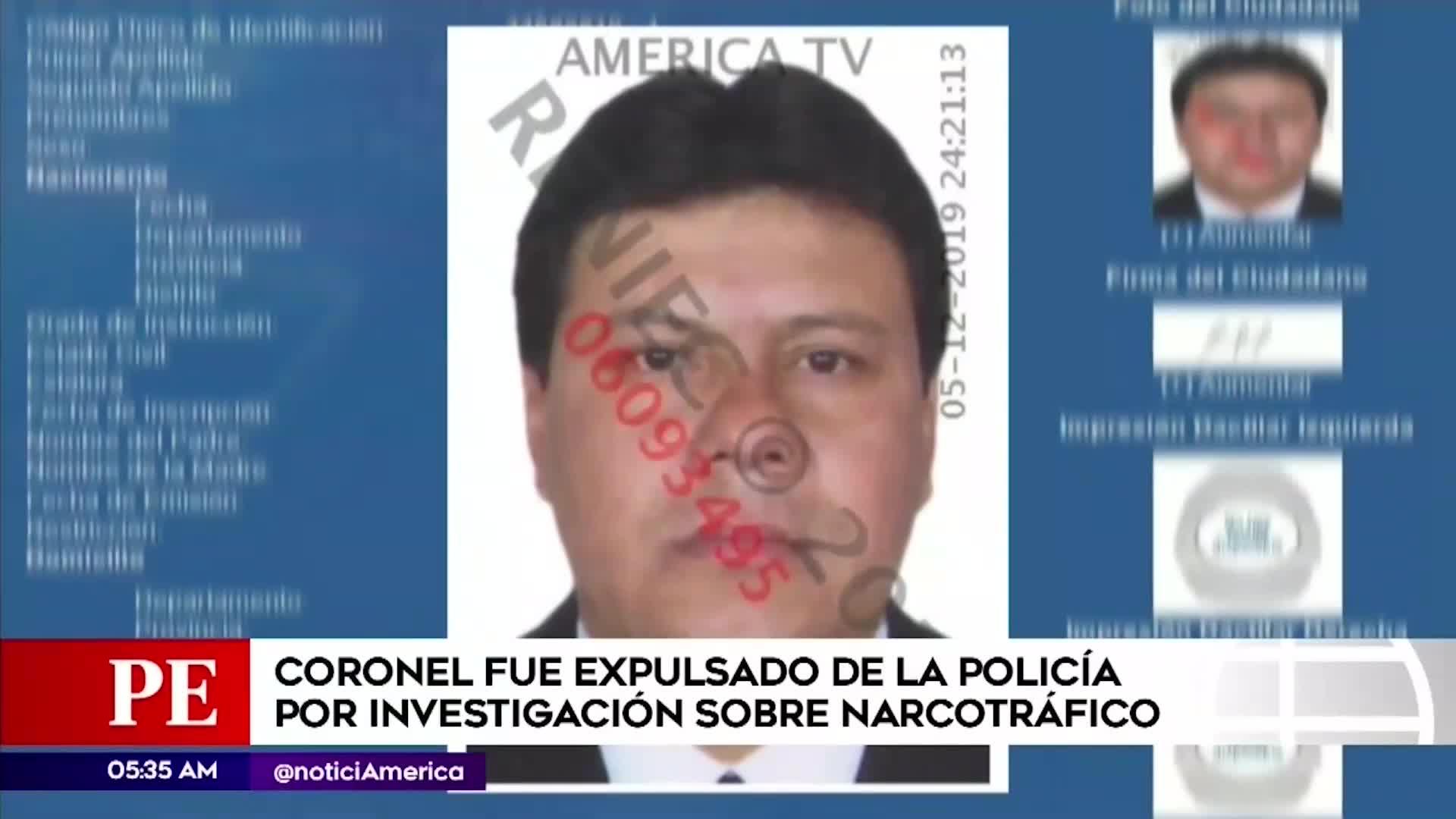 Coronel de la Policía fue detenido por presunta colaboración con banda delincuencial