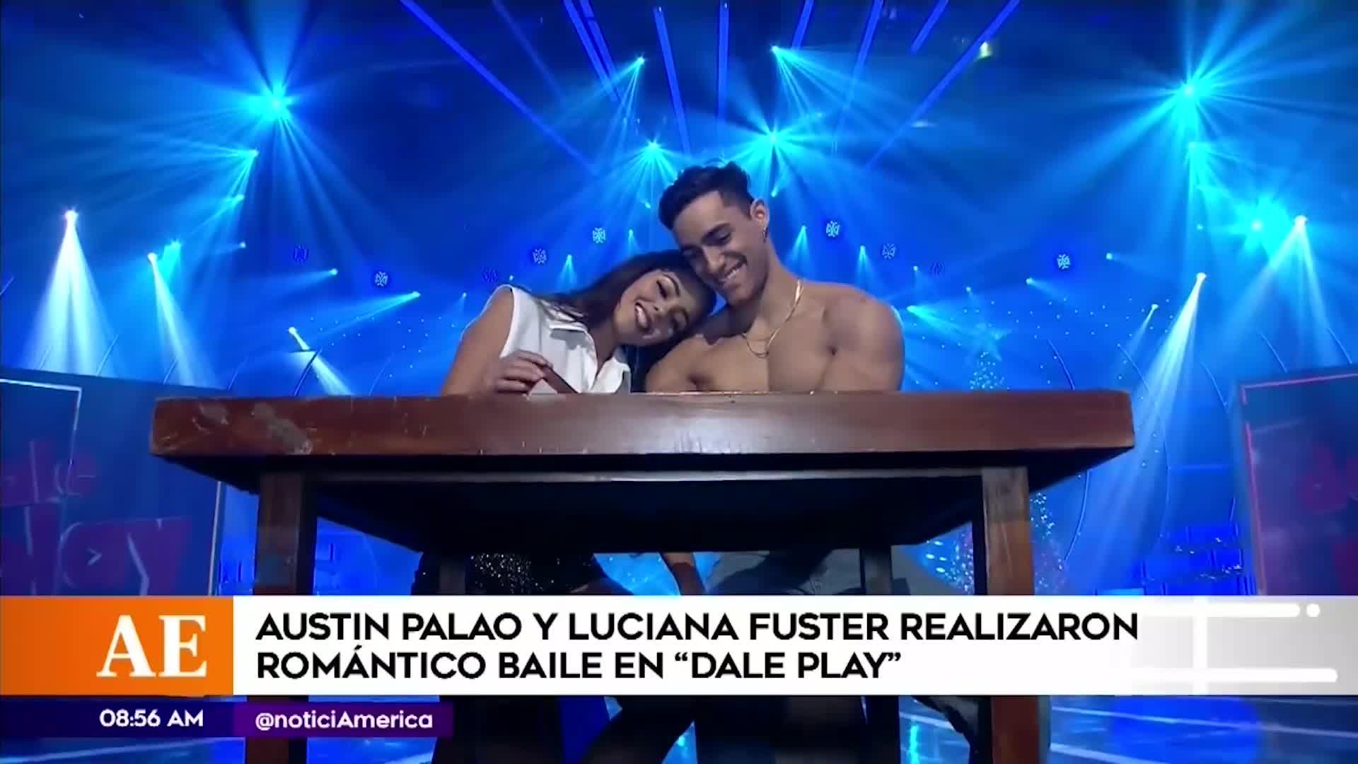 """Austin Palao y Luciana Fuster protagonizaron romántica escena de la película """"Ghost"""""""