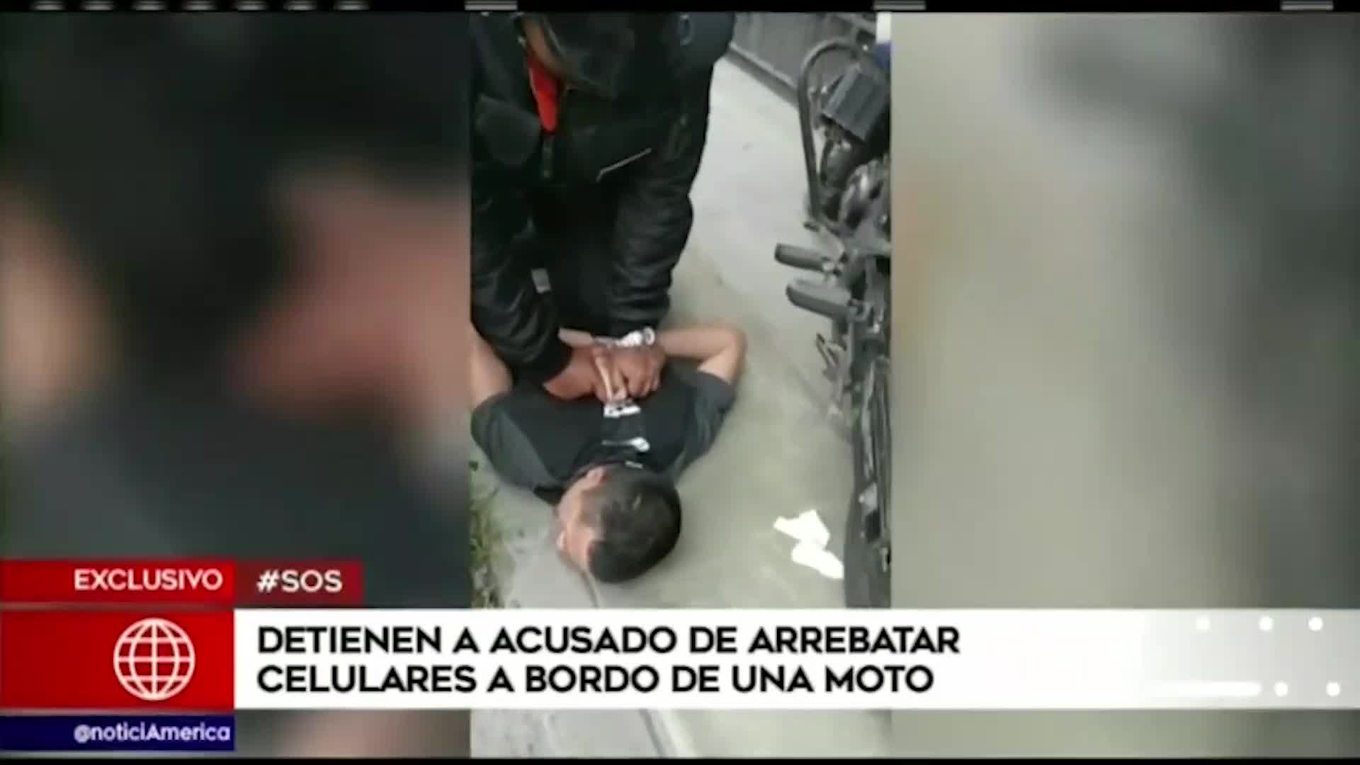 Los Olivos: Detienen a sujeto acusado de robar celulares a bordo de una moto