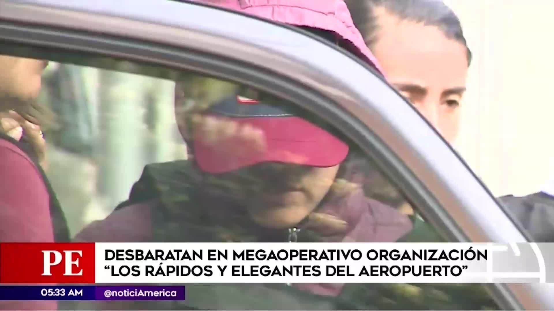 Policía desarticuló en un megaoperativo a la  banda 'Los Rápidos y Elegantes del Aeropuerto'