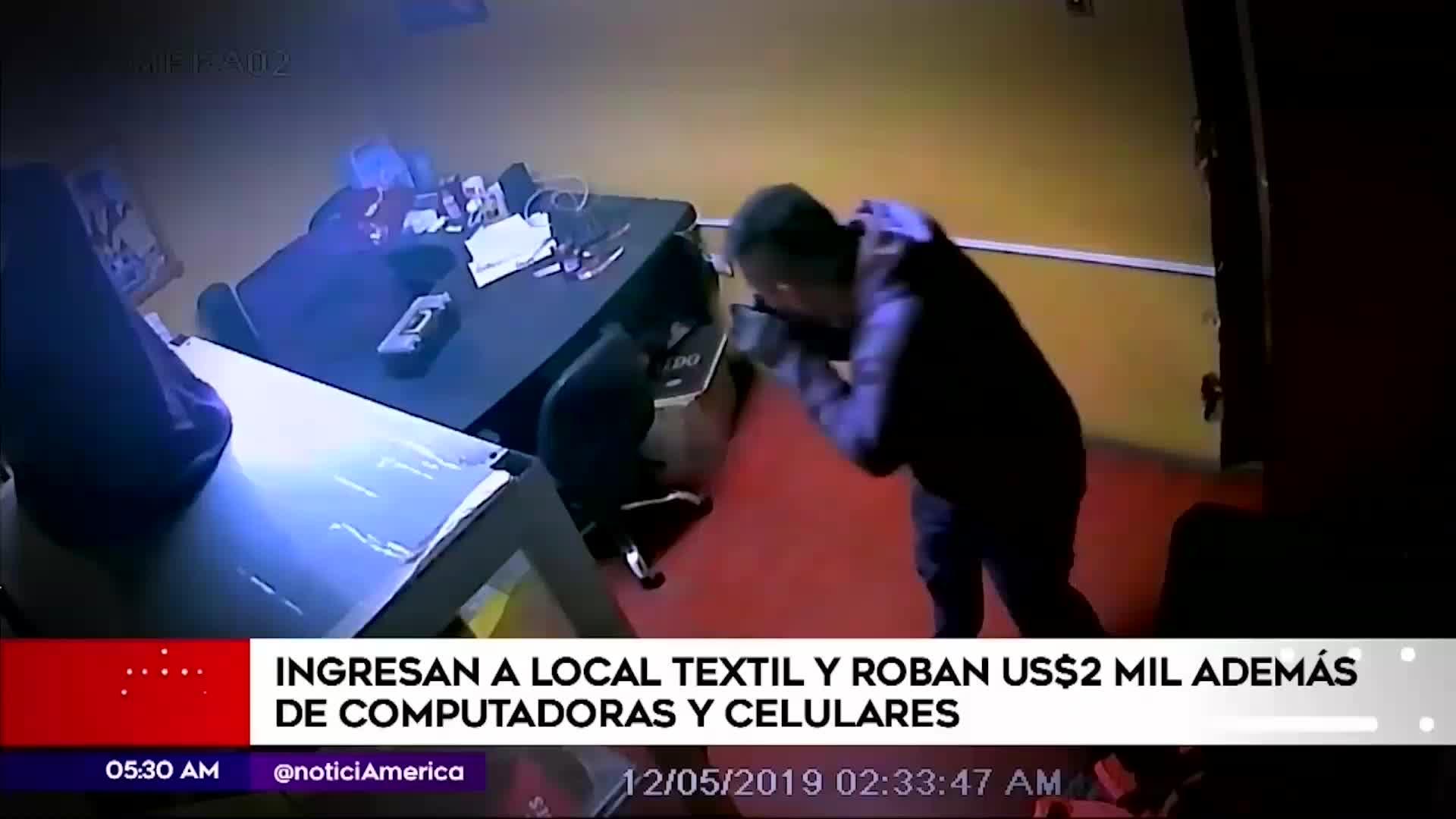 Santa Anita: Delincuentes ingresan a local textil con un desarmador y roban dos mil dólares